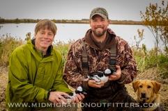 Dan Baluff and Bret Amundson filming for Prairie Sportsman