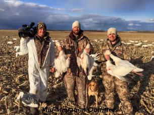 Filming a snow goose hunt with Mid Migration Outfitters