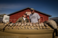 Chef Jim Kyndberg and Bret with a limit of ducks