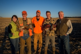 VIP Pheasant hunt in 2015 with Betty McCollum, Rick Nolan, Joe Radinovich and Collin Peterson