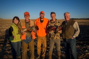 VIP Pheasant hunt in 2015 with Betty McCollum, Rick Nolan, Joe Radinovich and Collin Peterson
