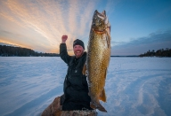 Northern Minnesota Lake Trout with Ely Ice Guides