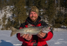 Rainbow trout caught while filming for Due North Outdoors