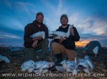 Bret and Tony after a quick two-man afternoon snow goose hunt