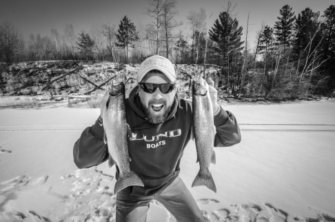 Red Lake Reservation trout fishing with Darwin's Red Lake Adventures