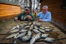Bret and his father Ron, crappie fishing in Wisconsin