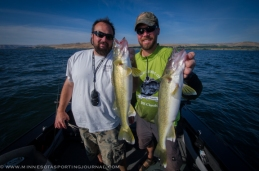 Bill Saunders and Bret with a double on walleyes