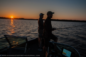 Muskie fishing with Bill Scherk filming for Due North Outdoors at Eagle Lake Island Lodge