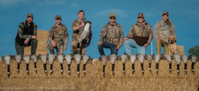 Western Minnesota goose hunt with friends.