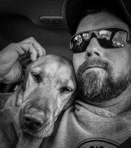 Bret and his lab Mika
