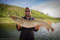 Bret with a Tazin Lake pike