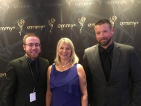 Bret along with Cindy Dorn and Dylan Curfman from the Prairie Sportsman staff at the regional Emmy Award banquet. Prairie Sportsman was nominated for two Emmy awards in 2018.