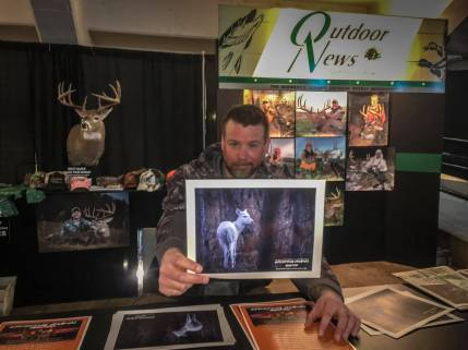 At the Outdoor News Booth at the Deer and Turkey Classic